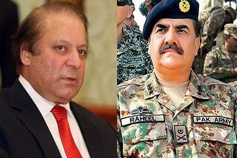 Nawaz Sharif meets Army chief Raheel, discusses Kashmir issue