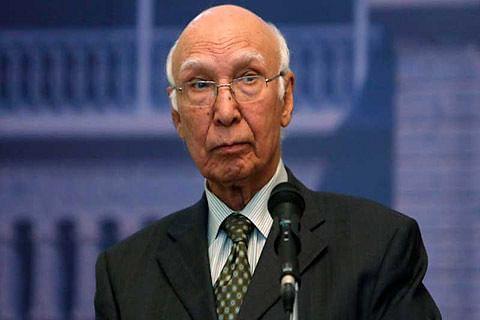 Kashmiris to decide their future not India's External Affairs Min, Aziz tells Swaraj