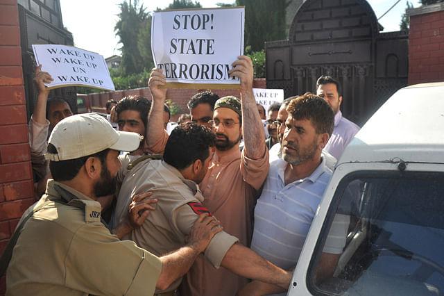 Mirwaiz Stages Sit-in Against Civilian Killings