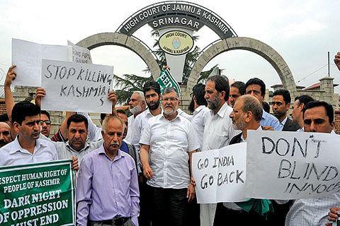 Bar Association protests against killings, pellet guns