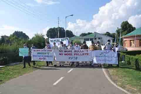KUTA protests civilian killings, calls for resolution of Kashmir issue