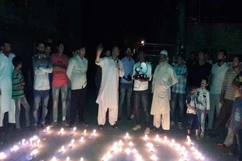 Masroor Abbas leads protest march in Nawa Kadal