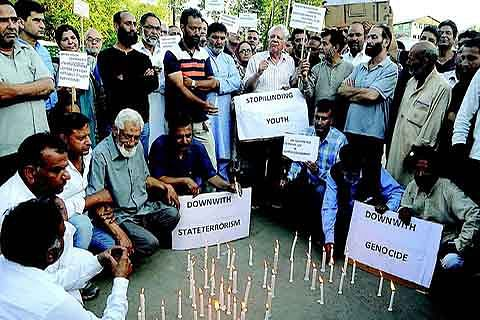 """CIVIL SOCIETY PROTESTS """"BULLET AND PELLET POLICY"""" OF GOVERNMENT"""