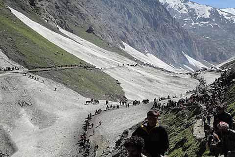 Fresh batch of 113 pilgrims leaves Jammu for Amarnath