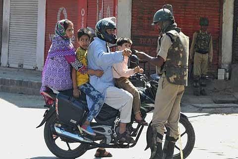 Caged in Curfewed Kashmir