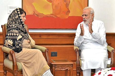 Mehbooba meets PM, seeks political action on Kashmir