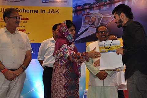 CM Mehbooba launches Ujala scheme in JK