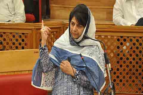 Talks only with those who shun violence, says Mehbooba