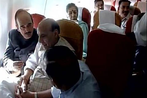 Rajnath Singh-led all-party delegation arrives in Kashmir capital