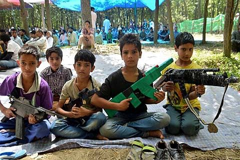 Slogans, protests are 'new plays' for children in Kashmir