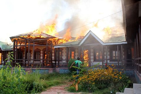 School gutted in mysterious fire in Anantnag