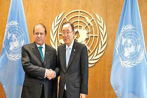 India, Pak should resolve Kashmir, UN chief tells Sharif