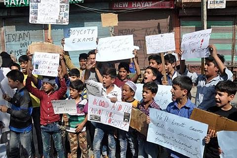 Student protests over exams continue across Kashmir