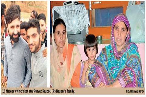 Cricketer Naseer of Anantnag too fell to deadly pellets