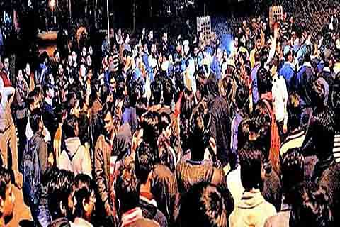JNU students protest against Najeeb's disappearance