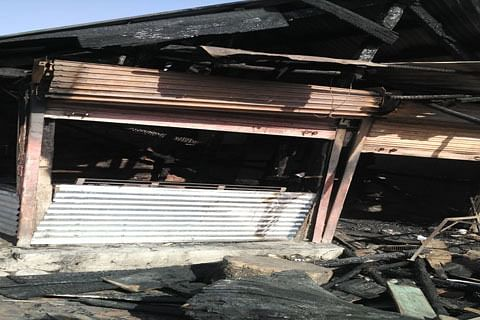 Four mutton shops gutted in mysterious fire in Tangmarg
