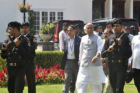 Rajnath reviews situation with Parrikar, NSA