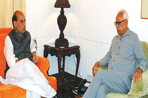 Governor meets Rajnath Singh