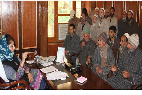 Mehbooba says govt responsive to people's problems