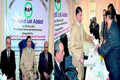 JKSLSA organizes National Lok Adalat, settles 24854 cases