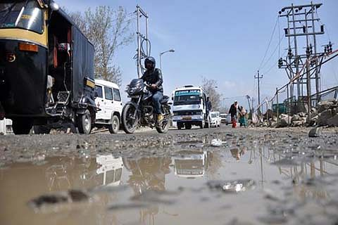 Road work in Rajouri left midway; people suffer