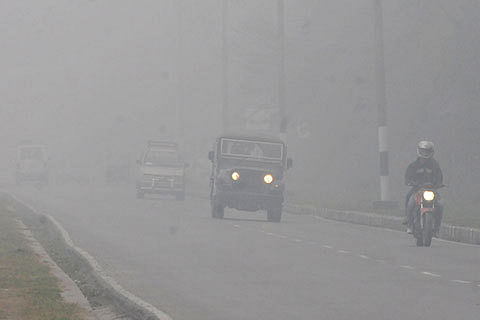 Fog cuts visibility, shuts flights to ground