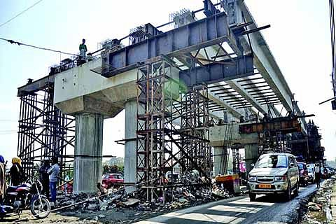 Jehangir Chowk-Rambagh flyover construction