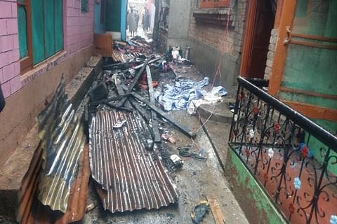 Fire damages three residential houses in Sopore