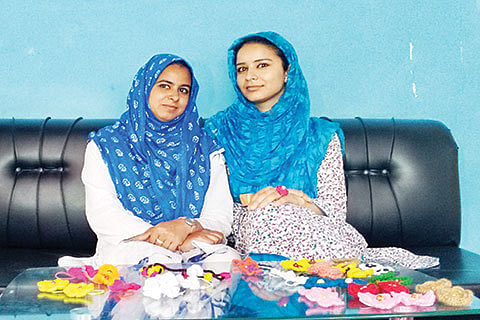 Crocheting duo's mission revival