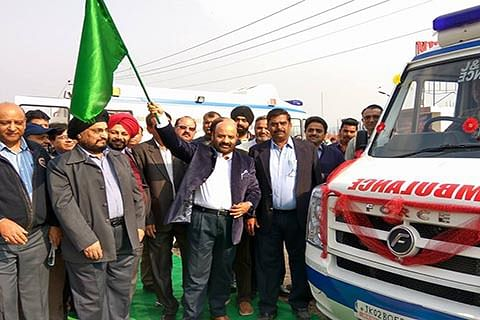 Health Minister flags off newly procured ambulances