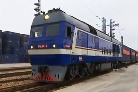 First cargo train from China leaves for Karachi