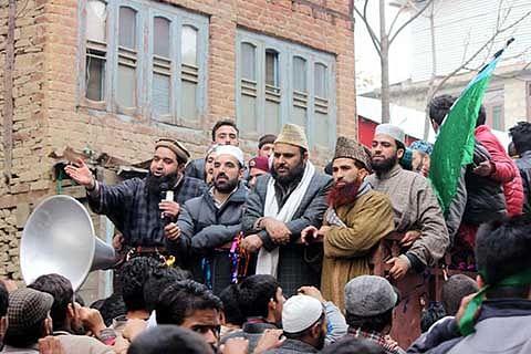 Mirwaiz Qazi Yasir leads Milad procession