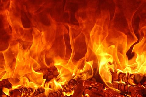 Fire damages residential house in Srinagar