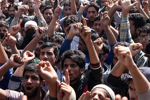 Protest erupt in Anantnag areas after killing of militant