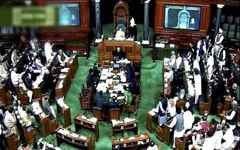Lok Sabha disrupted, adjourned for the day