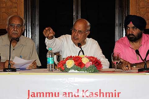 No alternative to unconditional dialogue with all stakeholders: Dr Farooq to Yashwant Sinha