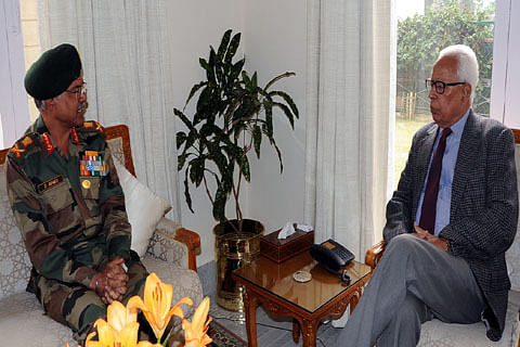 Northern Army Commander briefs Governor Vohra on security situation