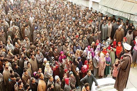 Malik addresses rally in Kulgam