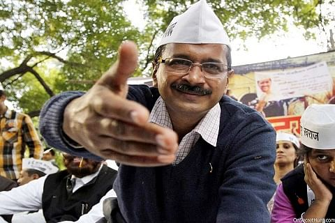 Kejriwal targets government for exempting political parties from tax