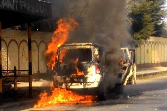 Protesters torch 22 vehicles in Manipur, curfew imposed