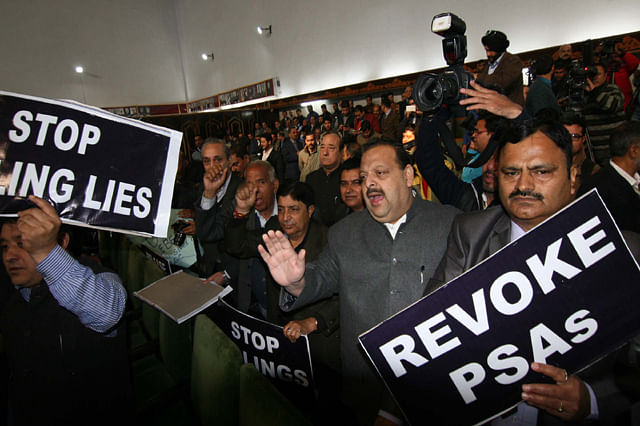 Kashmir Assembly: Opposition Protests During Governor's Address