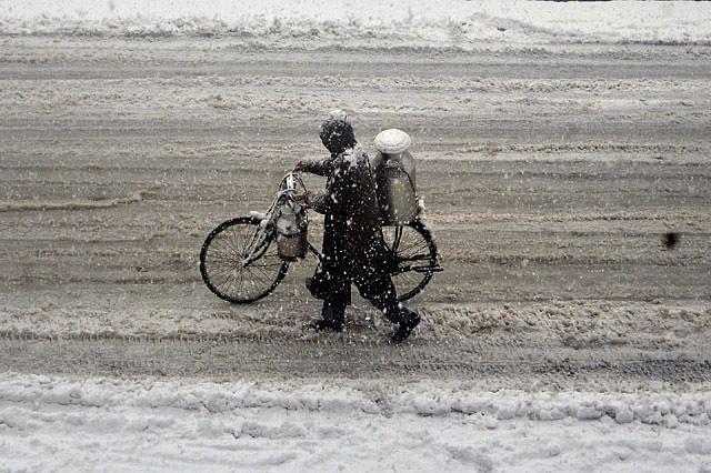 Snowfall Disrupts Life in Srinagar