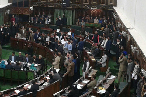 Day 2: Opposition seeks debate on Kashmir killings, disrupts assembly session
