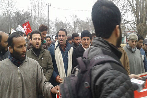 """NC holds protest against """"domicile certificates"""" to WP refugees in Sumbal"""