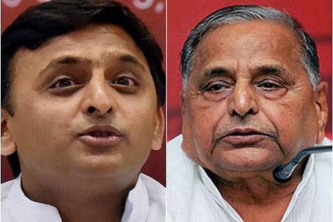 With party symbol in danger, Akhilesh and Mulayam meet