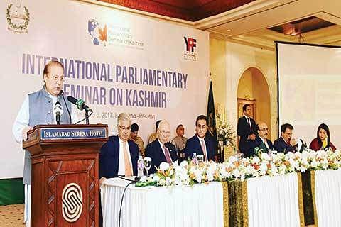 Kashmir 'integral part' of Pakistan, says Sharif
