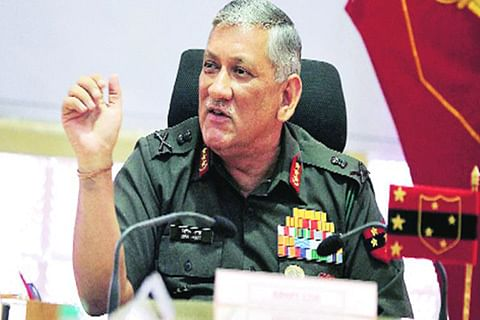 """Army chief warns of """"power display"""" if peace disrupted"""