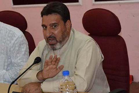 Altaf Bukhari miffed at 'tardy' Jhelum dredging