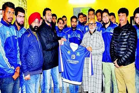Lone Star Kashmir Football Club contingent calls on Edu Minister