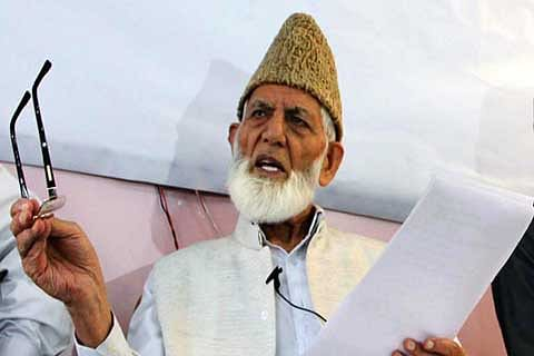 Martial law like situation in Kashmir: Geelani